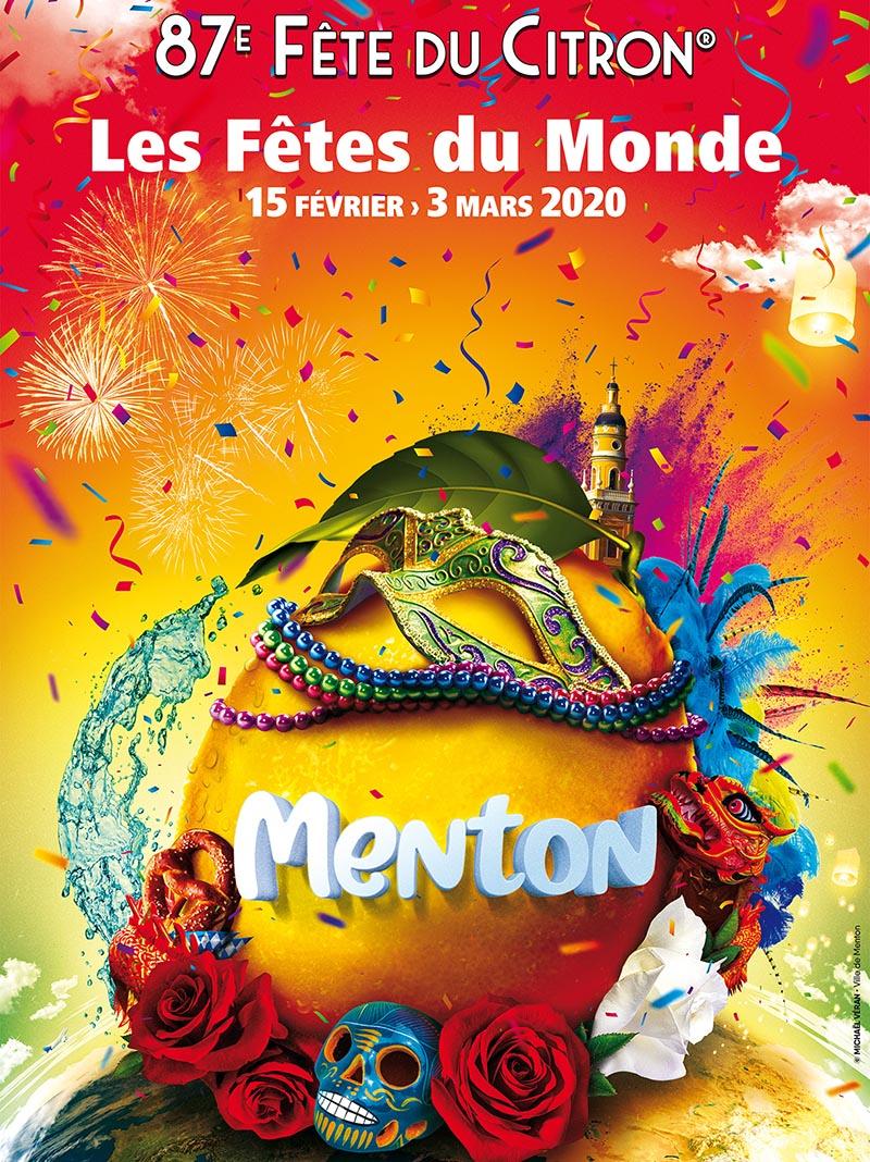 Affiche de la Fête du Citron® édition 2019 - Ville de Menton